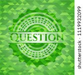 question green emblem with... | Shutterstock .eps vector #1119932099