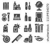 set of cosmetics related vector ... | Shutterstock .eps vector #1119934070