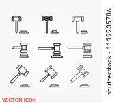 judge gavel icon vector | Shutterstock .eps vector #1119935786