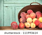 Many Peaches Spilling Out Of A...