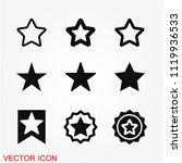 star icon vector | Shutterstock .eps vector #1119936533