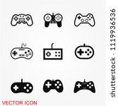 game controller icon | Shutterstock .eps vector #1119936536
