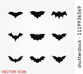 bat icon  vector   Shutterstock .eps vector #1119936569