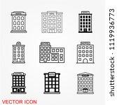 hotel icon vector | Shutterstock .eps vector #1119936773
