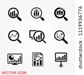 analytics icon vector | Shutterstock .eps vector #1119936776