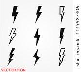 thunder bold lightning flash... | Shutterstock .eps vector #1119937406