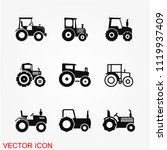 tractor icon vector | Shutterstock .eps vector #1119937409