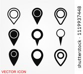 map marker icon vector | Shutterstock .eps vector #1119937448