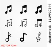 music note icon vector | Shutterstock .eps vector #1119937544