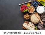 healthy breakfast ingredients... | Shutterstock . vector #1119937616