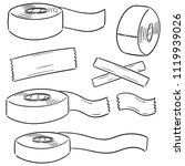vector set of adhesive tape | Shutterstock .eps vector #1119939026