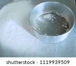 delicate  sifted cake flour... | Shutterstock . vector #1119939509