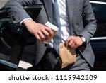 partial view of businessman... | Shutterstock . vector #1119942209