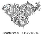 celtic double dragon | Shutterstock .eps vector #1119949043