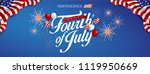 independence day usa banner... | Shutterstock .eps vector #1119950669