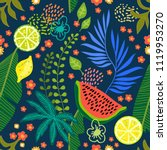 seamless botanical pattern with ... | Shutterstock .eps vector #1119953270
