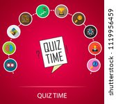 quiz time flat icons concept.... | Shutterstock .eps vector #1119956459