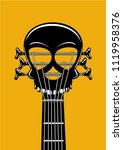 rock and roll music poster.... | Shutterstock .eps vector #1119958376