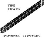 vector tire track background... | Shutterstock .eps vector #1119959393