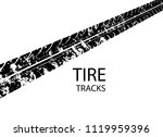 vector tire track background... | Shutterstock .eps vector #1119959396