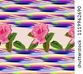 seamless pattern with beautiful ... | Shutterstock .eps vector #1119962690