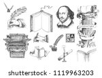 literature hand drawn vector... | Shutterstock .eps vector #1119963203