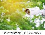close up multi angle cctv... | Shutterstock . vector #1119964079