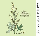 wormwood  wormwood branch ... | Shutterstock .eps vector #1119965876