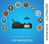 car navigation flat icons... | Shutterstock .eps vector #1119966200
