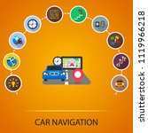 car navigation flat icons... | Shutterstock .eps vector #1119966218