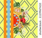 seamless tropical pattern with... | Shutterstock .eps vector #1119967610