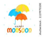 illustration of happy monsoon...   Shutterstock .eps vector #1119970100