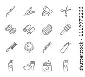 hair care and tools vector...   Shutterstock .eps vector #1119972233