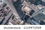 aerial view of business area... | Shutterstock . vector #1119972509