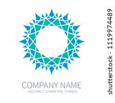 abstract symmetry circle logo.... | Shutterstock .eps vector #1119974489