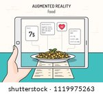 ar food vector design template. ... | Shutterstock .eps vector #1119975263