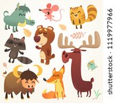 cartoon forest animals set.... | Shutterstock .eps vector #1119977966