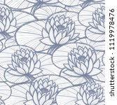 ink hand drawn lotus coloring... | Shutterstock .eps vector #1119978476