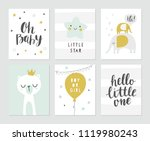 baby shower vector card designs.... | Shutterstock .eps vector #1119980243