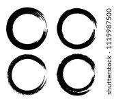 set of black brush strokes in... | Shutterstock .eps vector #1119987500