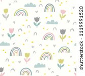 cute vector pattern with... | Shutterstock .eps vector #1119991520