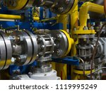 gas metering station and... | Shutterstock . vector #1119995249