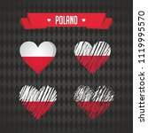 poland. collection of four... | Shutterstock .eps vector #1119995570