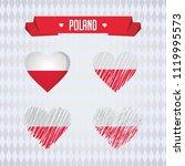 poland heart with flag inside.... | Shutterstock .eps vector #1119995573