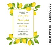 wedding invitation card with... | Shutterstock .eps vector #1120003286