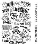 poster with list of healthy... | Shutterstock .eps vector #1120004873