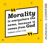 vectors quote. morality is... | Shutterstock .eps vector #1120009388