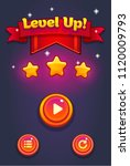 mobile game ui pop up level up. ...