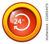 vector 24 hours  support... | Shutterstock .eps vector #1120014473