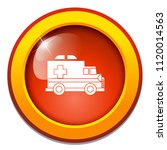 vector emergency ambulance car  ... | Shutterstock .eps vector #1120014563